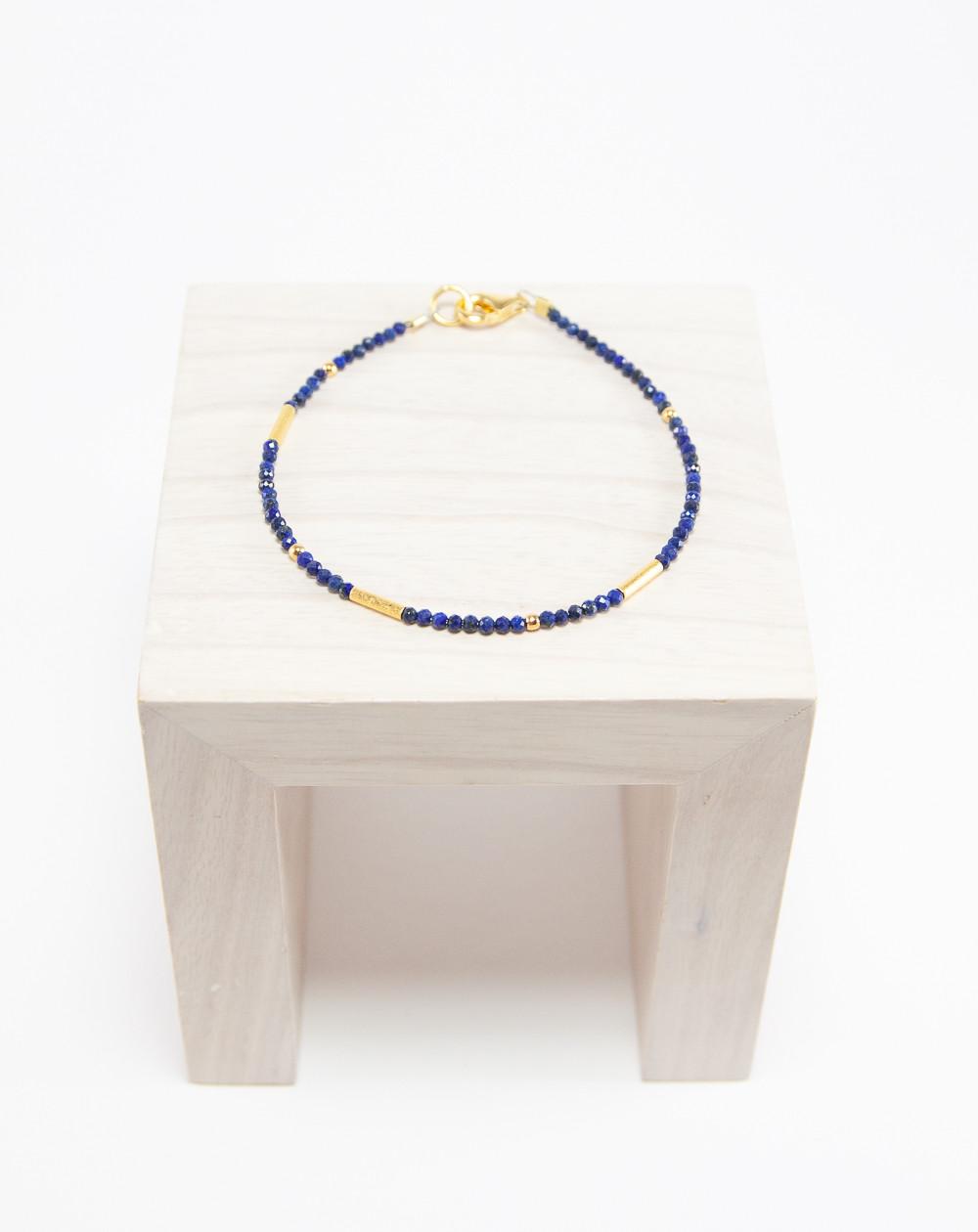Bracelet collection épure, Lapis Lazuli, Sanuk Création