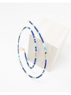 Collier collection épure, Lapis Lazuli et Turquoise, Sanuk création