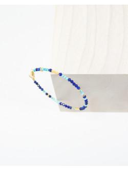Bracelet collection épure, Lapis Lazuli Turquoise, Sanuk création