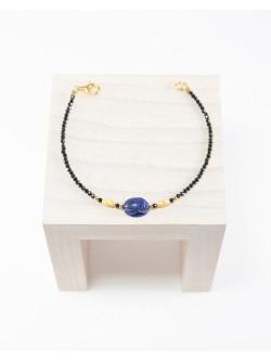 Bracelet Spinelle Scarabée Lapis Lazuli, Collection Khépri, Sanuk Création