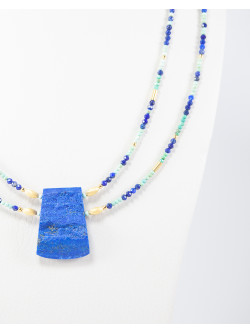 Collier Turquoise Lapis Lazuli brut
