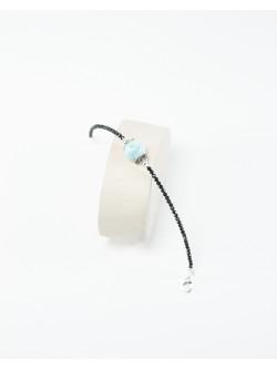 Bracelet collection Signature Spinelle Larimar, Sanuk Création. Créateurs Français