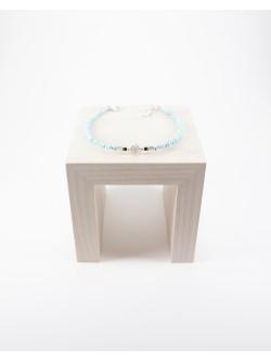 Bracelet Spirale en argent, Larimar. Sanuk Création. Créateurs Français