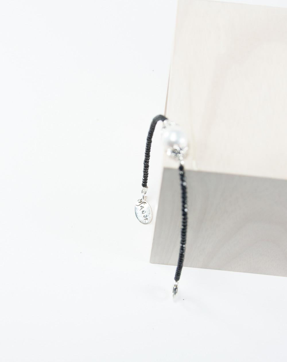 Bracelet collection Signature Spinelle Perle d'eau douce, Sanuk Création. Créateurs Français
