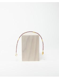 Bracelet collection épure en grenat. Créateurs Français. Sanuk création