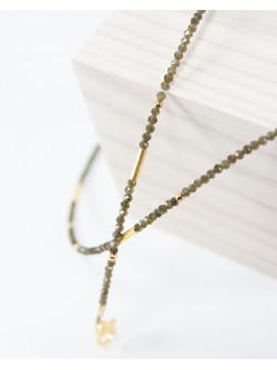 Collier collection épure. Obsidienne dorée. Sanuk Création
