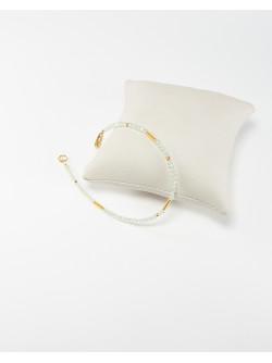 Bracelet collection épure Préhnite. Créateurs Français. Sanuk Création