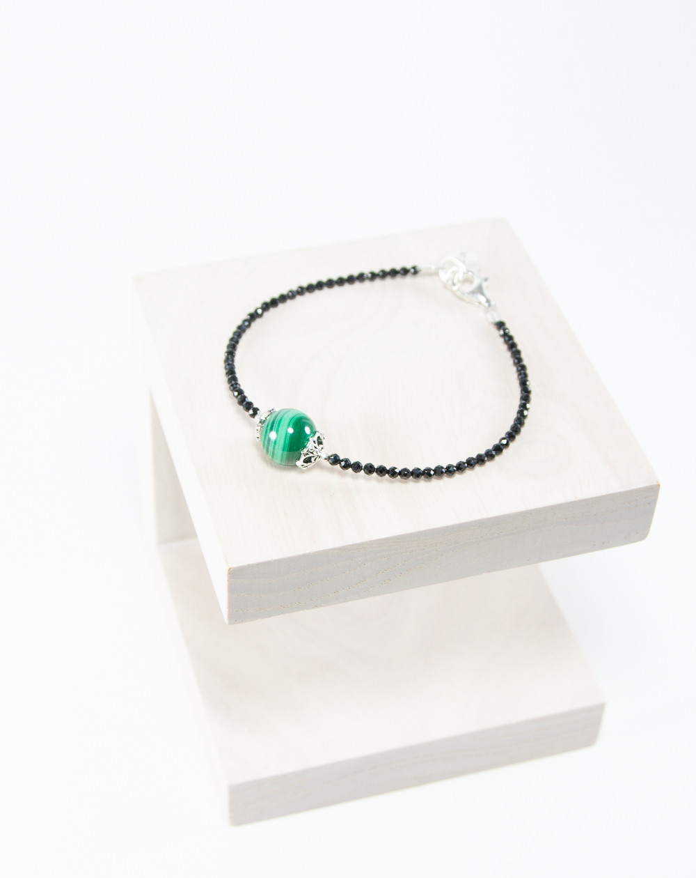 Bracelet collection Signature Malachite. Créateurs Français, Sanuk Création