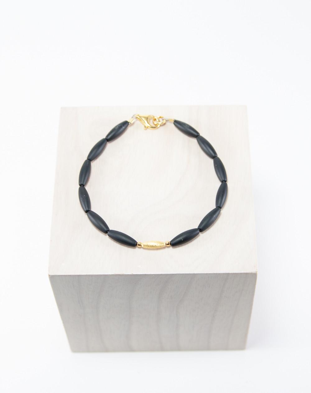 Bracelet en Onyx mat, Sanuk Création
